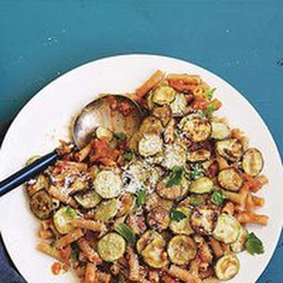 Ratatouille Riggies: Eggplant Marinara with Rigatoni and Zucchini