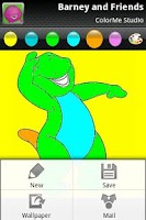 Screenshot of Coloring: Purple Dinosaur