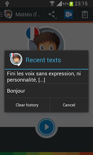 Mattéo voice (French) - screenshot