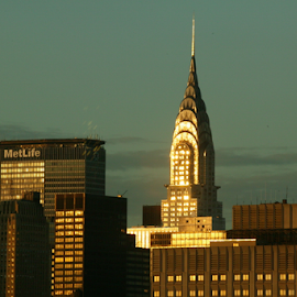 dawn on the Chrysler Building by Alec Halstead - Buildings & Architecture Architectural Detail