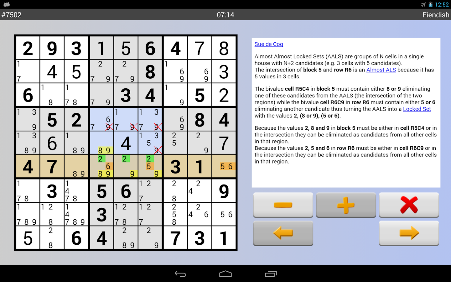 Sudoku Grab'n'Play Plus Screenshot 9