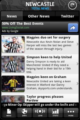 newcastle-total-news for android screenshot