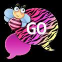 GO SMS - Cute Pastel Zebra icon