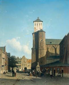 RIJKS: Jan Weissenbruch: painting 1860