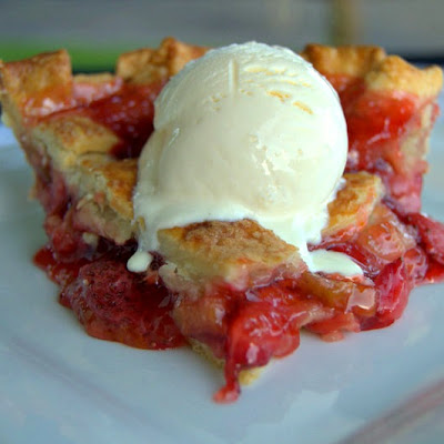 Lattice Strawberry Rhubarb Pie