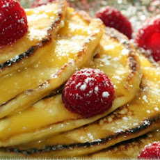 Lemon Ricotta Pancakes with Lemon Curd and Fresh Raspberries