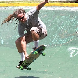 Flying by Humberto Reyno - Sports & Fitness Skateboarding ( skate, fitness, sports, bow, skateboard )