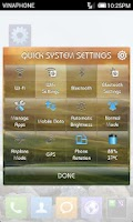 Screenshot of Quick Settings Application