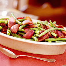 Green Beans and Pan-Roasted Red Onions