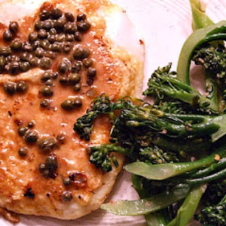 Lemon Caper Calamari Steaks