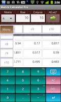 Screenshot of Matrix Calculator Pro