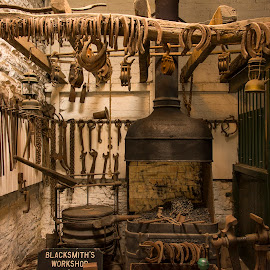 Smithy by Darrell Evans - Buildings & Architecture Other Interior ( shoes, blacksmith, wood, chains, furnace, forge, stable, iron )