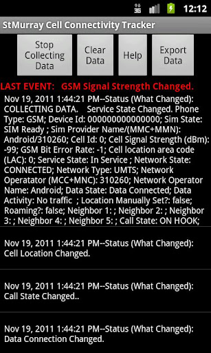 cell-connectivity-tracker for android screenshot