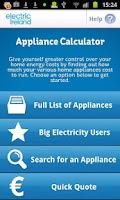 Screenshot of Appliance Calculator