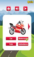 Screenshot of Kids Learning Vehicles