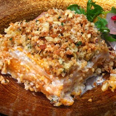 Celery Root and Squash Gratin with Walnut-Thyme Streusel