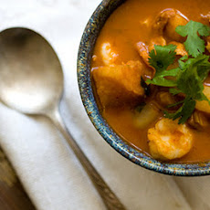 Red chile seafood chowder