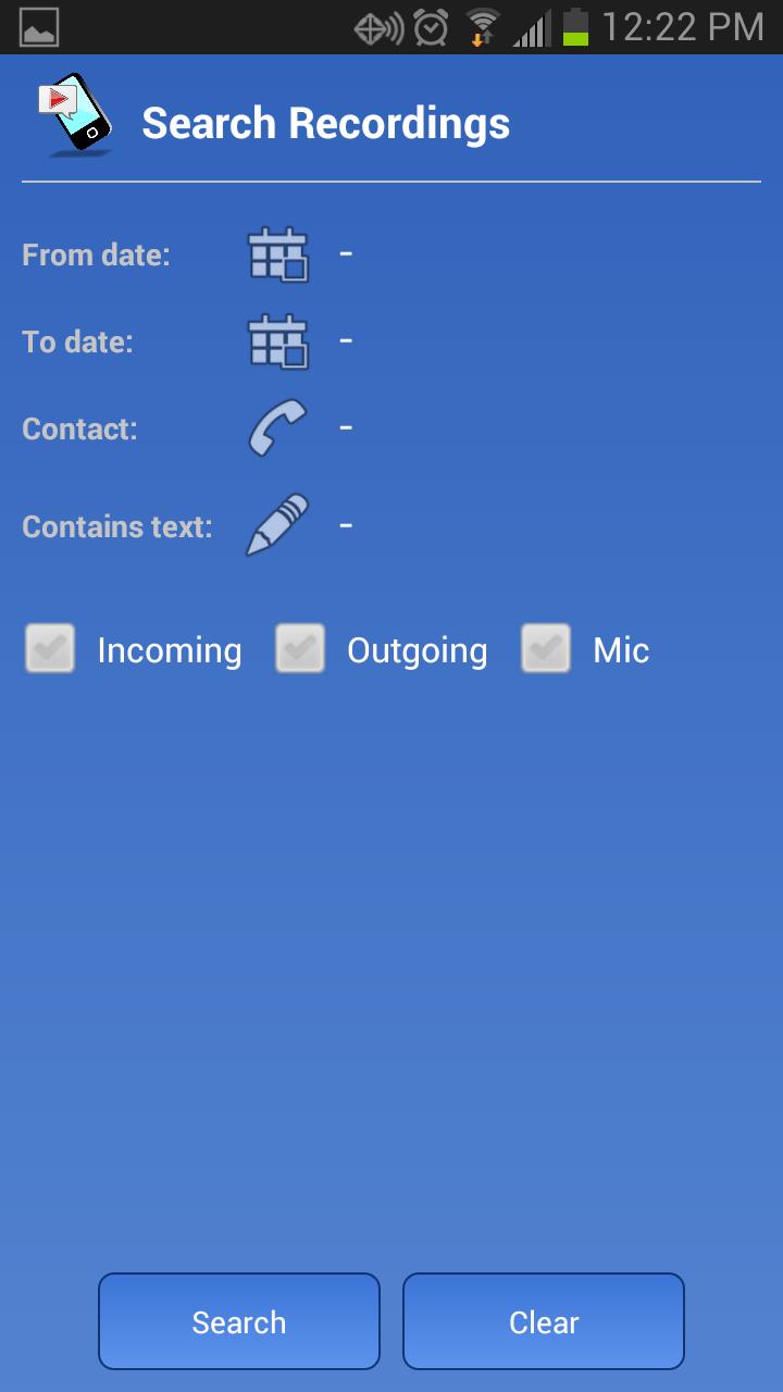 Call Recorder S9 Screenshot 4