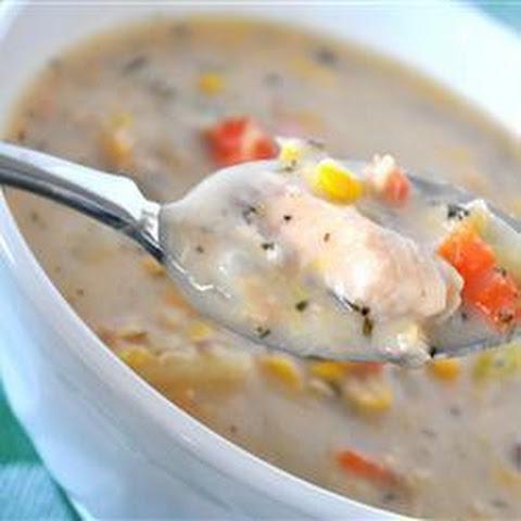 soup with chipotle yogurt corn soup with harissa yogurt soup lentil ...