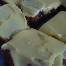 Fruit Cake Slice With Lemon Icing.