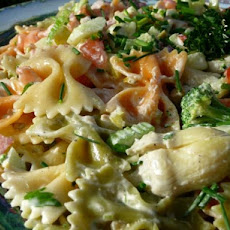 Tuxedo Bow-Tie Pasta Salad for Picnics and Potlucks