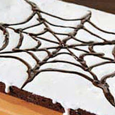 Spooky One Bowl Spider Web Brownies