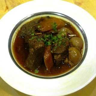 Beef bourguignon. Tastes as complex as it's spelled!