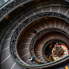 Bramante Stairs by E-Den Tan - Buildings & Architecture Other Interior ( musseum, rome, vatican, italy )