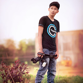 The Photographer by Rachmad MusTofa - People Portraits of Men ( cool, photographer, handsome, boy, photoshop )
