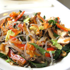 Raw Kelp Noodle Chili Salad