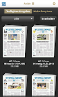 Screenshot of WP Zeitungskiosk