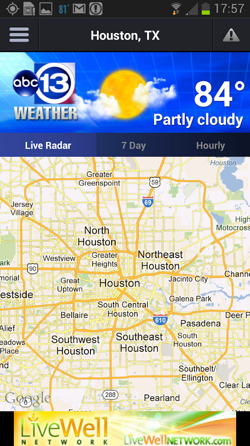 channel 13 houston weather map