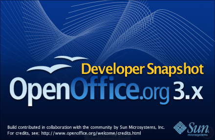 OpenOffice.org DEV300_m7 splash screen