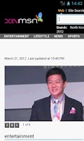 Screenshot of Xinmsn