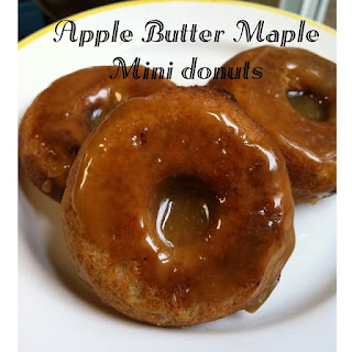 Apple Butter Mini Donuts with Maple Toffee Glaze