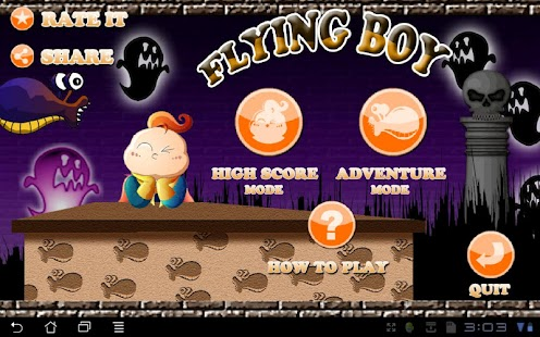 Flying Boy Free - screenshot