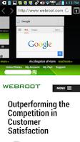 Screenshot of SecureWeb Browser