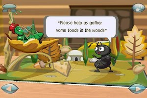 Screenshot of Ant&Grasshopper:3D Story Book