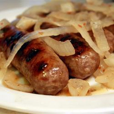 Beer-braised Bratwurst