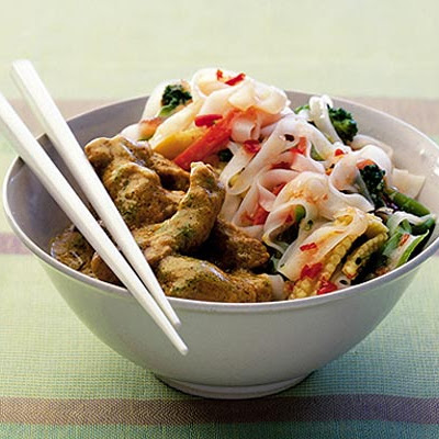 Chilli Coconut Pork With Vegetable Noodle Salad