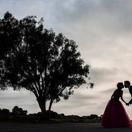 To love abundantly is to live abundantly, and to love forever is to live forever. by Yansen Setiawan - Wedding Other ( kiss, wedding, silhouette, evening, engagement )