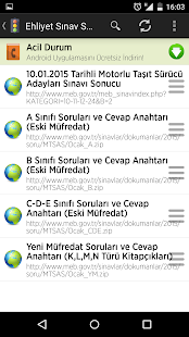 License Exam Results in Turkey - screenshot