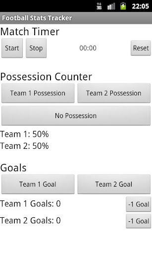 Football Stats Tracker Beta