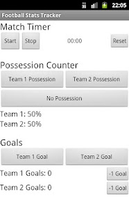 Football Stats Tracker Beta - screenshot