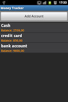 Screenshot of MoneyTracker FREE