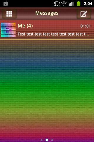 短信主題顏色像素 GO SMS PRO Theme