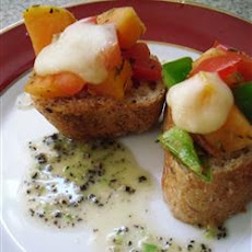 Papaya Bruschetta
