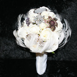 Broach Bouquet for the Bride by Sharon Sarria - Wedding Other ( flower, bouquet )