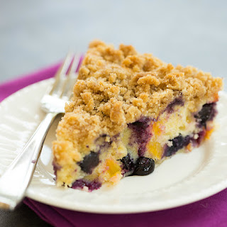 Blueberry and Peach Coffee Cake