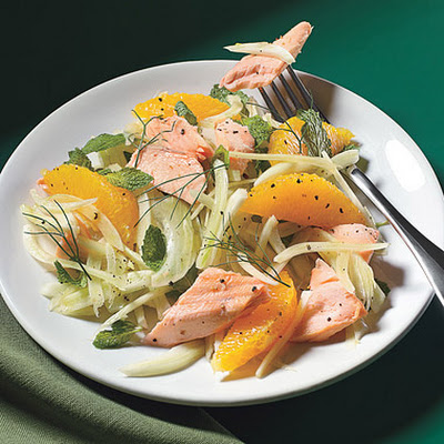 Salmon Salad with Fennel, Orange, and Mint